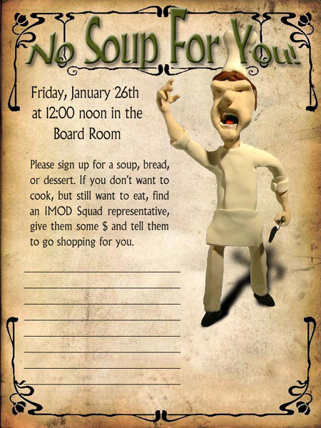 No Soup For You!  Make A Signup Sheet